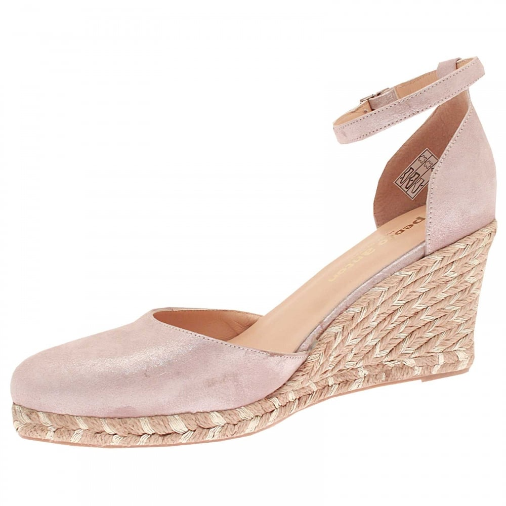 Wedge Ankle Strap Closed Toe Shoe By Marian At Walk In Style
