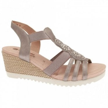 Remonte Wedge Elasticated Strap Sandal