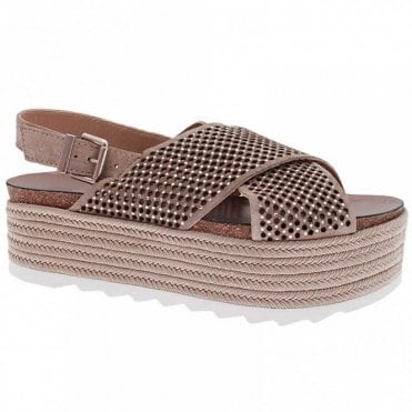 Wedge Faltform Diamate Cross Over Sandal
