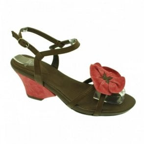 Audley Wedge Sandal Big Flower