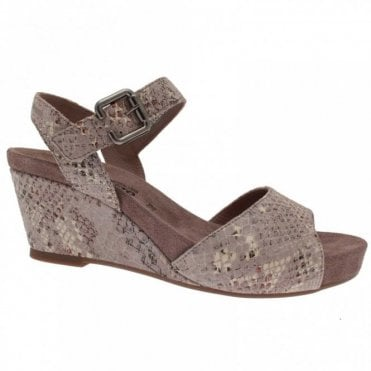 Wedge Sandal With Velcro Ankle Strap