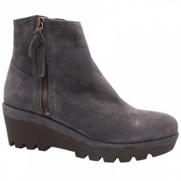 Wedge Side Zip Ankle Boot