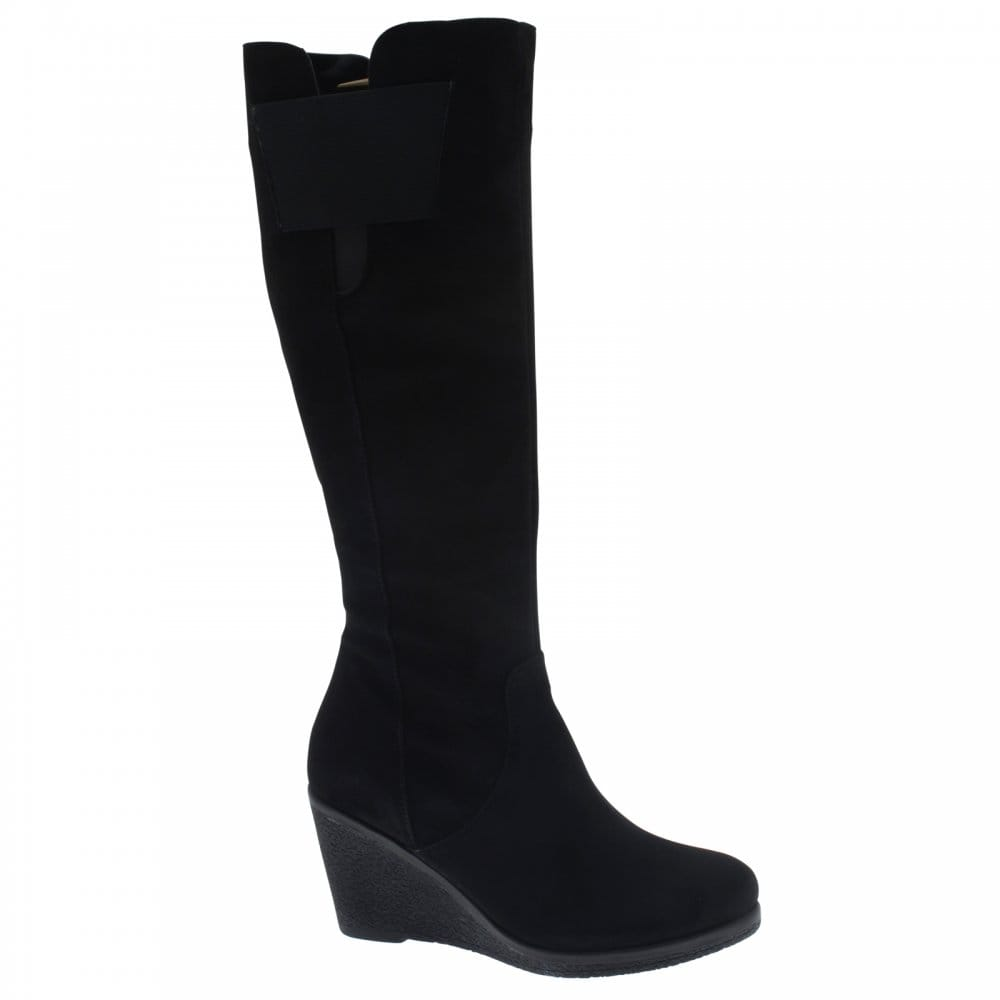 bd910f2c23a Vanilla Moon Wedge Stretch Panel Long Boot - Footwear from Walk in Style UK