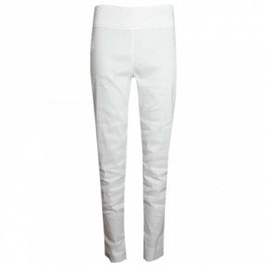 Crea Concept White Pull On Stretch Trousers