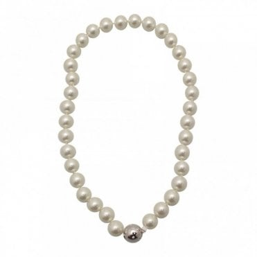 White Shell Pearl Effect Necklace