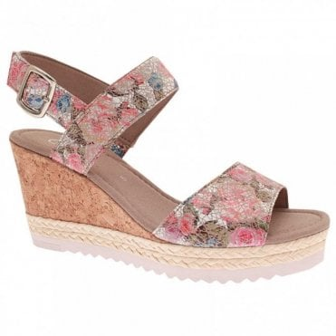 Wicket Flower Garden Wedge Sandal