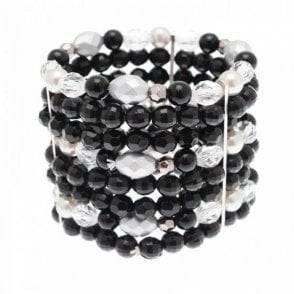 Walk In Style Wide Beaded Detail Sparkle Bracelet