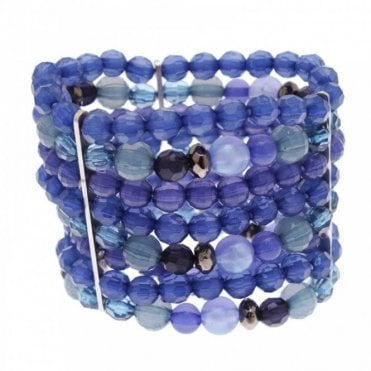 Wide Beaded Detail Sparkle Bracelet