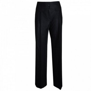 Wide W/band Long Trousers