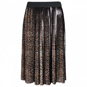Wild Life Print Pleated Skirt