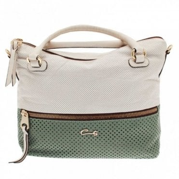 Women's 2 Tone Grab Handle Handbag