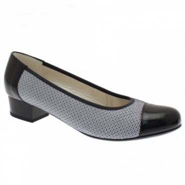 Women's 2 Tone Low Heel Court Shoe