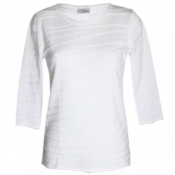 Faber Women's 3/4 Sleeve Cotton Blend Top