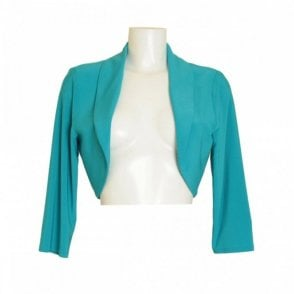 Women's 3/4 Sleeve Plain Jersey Bolero
