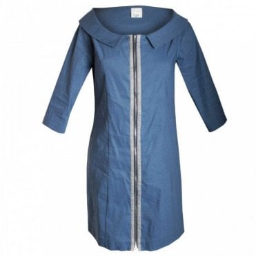 Women's 3/4 Sleeve Zip Front Dress