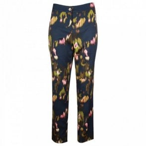 Women's Abstract Print Tailored Trousers