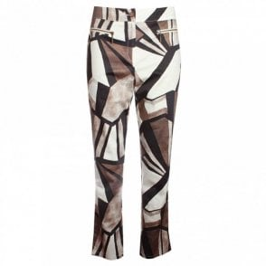 Women's Abstract Print Trousers