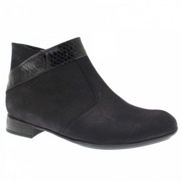 Women's Ankle Boot With Leather Trim