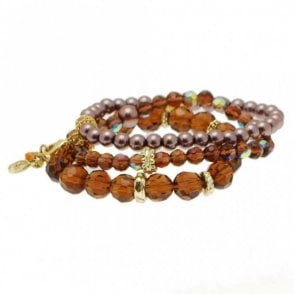 Women's Bead And Charm Detail Bracelet