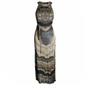 Women's Beaded Collar Maxi Dress