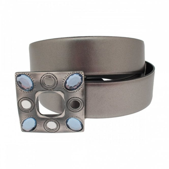 Stephen Collins Women's Belt With Crystal Trim Buckle