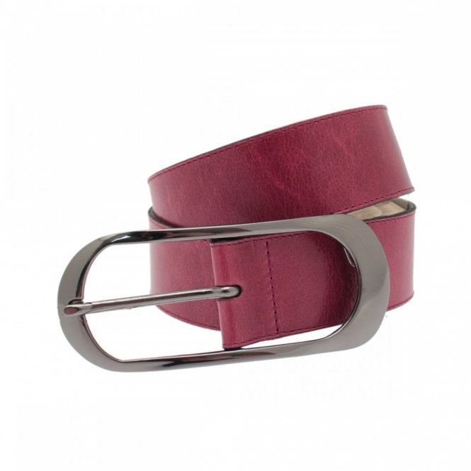 Apanage Women's Belt With Large Silver Buckle
