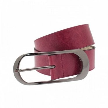 Women's Belt With Large Silver Buckle