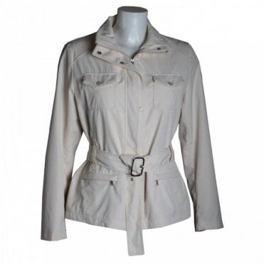 Women's Belted Fly Jacket With Pockets