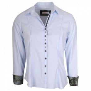 Women's Blue Stretch Fit Shirt