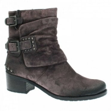 Women's Buckled Cowboy Style 3/4 Boot