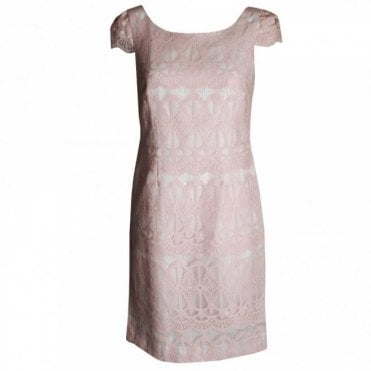 Badoo Women's Capped Sleeve Lace Dress