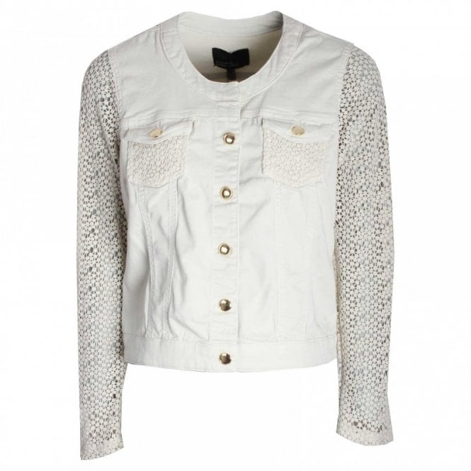 Marie Mero Women's Casual Jacket With Lace Sleeves
