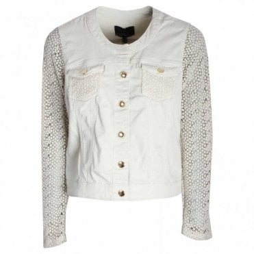 Women's Casual Jacket With Lace Sleeves