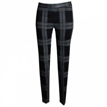 Women's Checked Narrow Leg Trousers