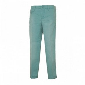 Women's Chino Straight Fit Turn Up Jeans