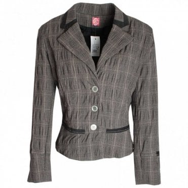 Women's Contrast Trim Detail Jacket