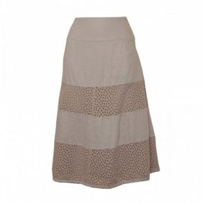 Women's Cotton Skirt With Panel Detail