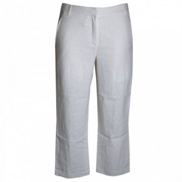 Women's Cropped Leg Linen Trousers
