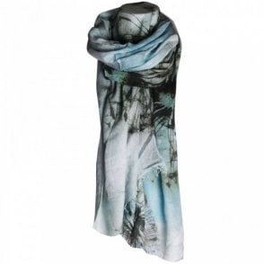 Women's Dandelion Design Long Scarf