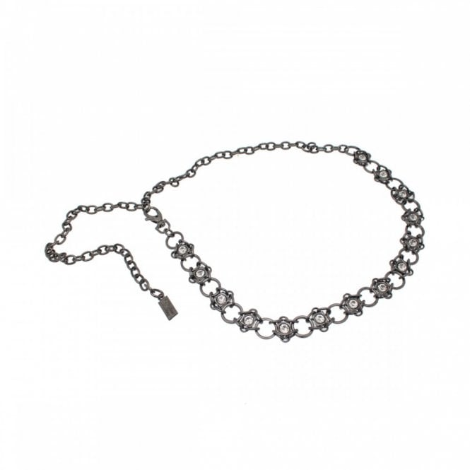 Stephen Collins Women's Diamante Detail Chain Belt