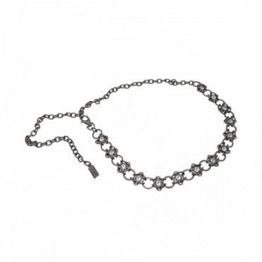 Women's Diamante Detail Chain Belt