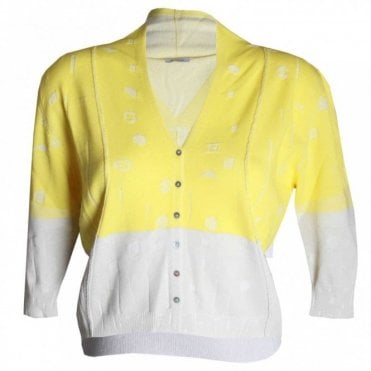 Crea Concept Women's Fine Knit Button Cardigan