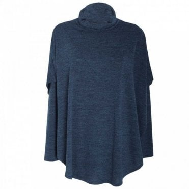 Women's Fine Knit Cape Style Polo Jumper