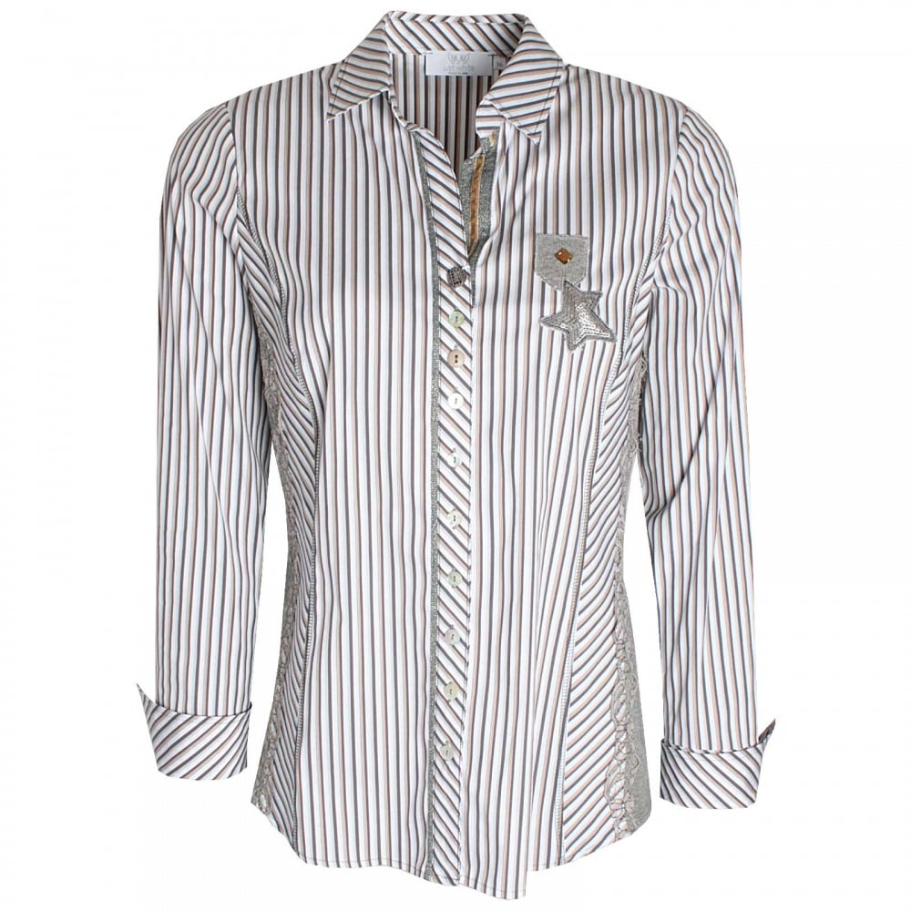 89a9e62a Women's Fitted Stretch Side Shirt By Just White At Walk In Style