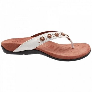 Vionic Women's Flat Toe Post Sandal With Beads