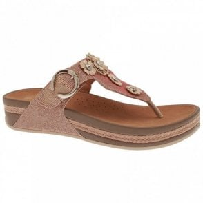 Women's Flatform Toe Post Sandal