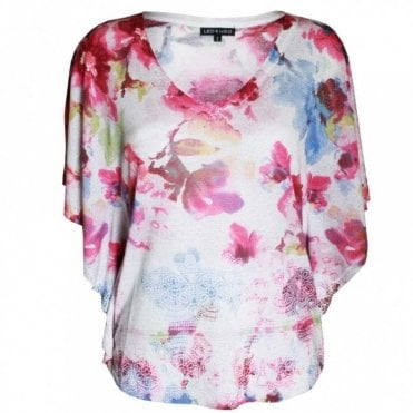 Women's Floral Print Batwing Top