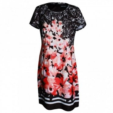 Women's Floral Short Sleeve A Line Dress