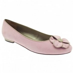 Women's Flower Detail Flat Ballet Pump