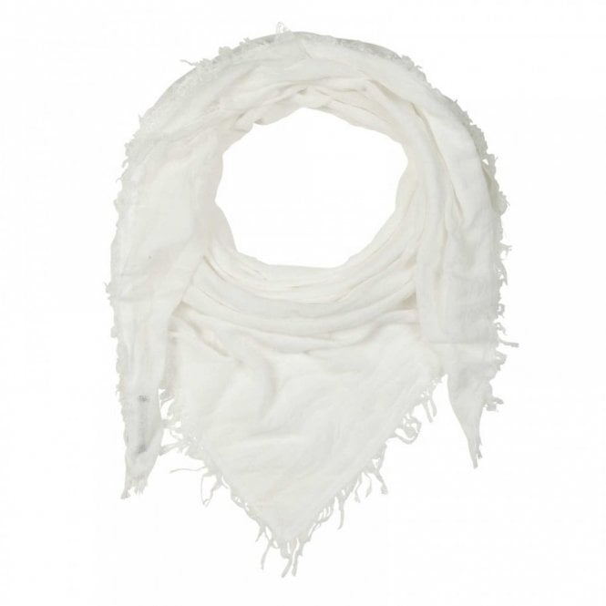 Oui Women's Fringe Edge Plain Long Scarf